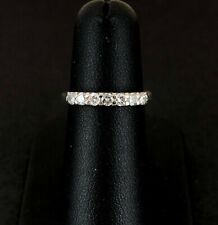 (Pa2) 18ct 0.33pt Diamond Half Eternity Ring 2.2gms (1008827-1-A)