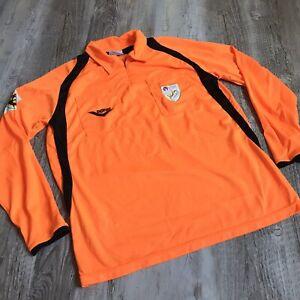 FCF Catalan Football Fed. Long Sleeve Soccer Jersey Pony Men's Size Small Orange