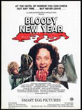BLOODY NEW YEAR__Original 1987 Trade print AD / promo__NORMAN J. WARREN