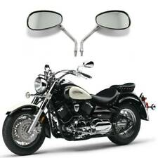 Chrome Motorcycle Rearview Side Mirrors For Yamaha V Star 650 XVS650 250 1100 FO