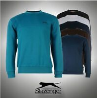 Mens Slazenger Fleece Crew Neck Sweater Sweatshirt Sizes S  M L XL XXL