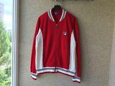 FILA VINTAGE SETTANTA TRACK TOP RED 1990 Tennis Jacket Casual M