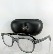 Brand New Authentic Moncler Eyeglasses ML 5003 020 50mm Grey Translucent Frame
