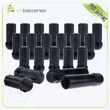 20 x 7 Spline Wheel Lug Nuts 9/16-18 Black Fits 08-09 Dodge Ram 1500 +2 keys