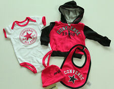 NUEVO ALL STAR CONVERSE BABY SET NIÑA Niñas Rosa gr.3-6monate 65-70cm 4-teile