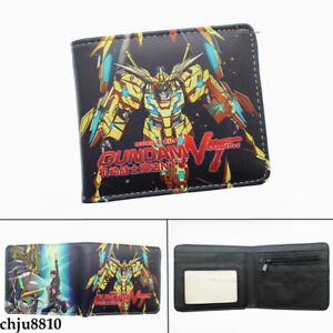 Gundam Unisex PU Wallet Bifold Short Purse Student Card Holder Coinbag Gifts