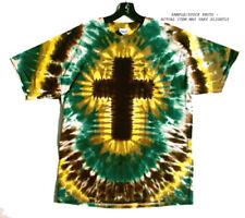 SALE Size 2X GENESIS EARTH CROSS Hand-dyed Tie Dye T-Shirt XXL
