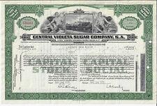 1958 Central Violeta Sugar Company SA Stock Certificate ABN