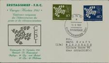 BRD FDC MiNr 367x-368x (14a) Europa (CEPT) 1961 Vereinigung-Gemeinschaft-Politik