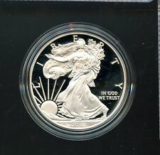 2010 W U.S. Mint American Eagle One Ounce Silver Proof Coin w/Box BL162