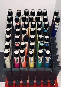 Lot of 42 VTG Letraset Pantone Markers Bundle in holder