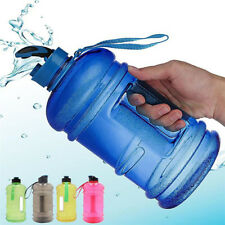 2.2 Liter (Half Gallon) Drink Canteen Jug Container Cap Gym Workout w/Carry Loop