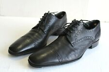 BALLY DANIELL Men's Goatskin Shoes, Black Leather. US Size 10.5 D Switzerland.