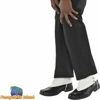 SPATS GANGSTER MICHAEL JACKSON SHOE COVERS - mens fancy dress costume accessory
