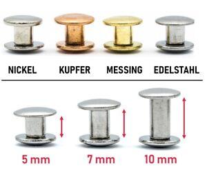 My Belt - 10 Stück Buchschrauben Nieten für Leder Schraubnieten Gürtelnieten