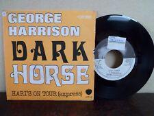 """RARE - 7"""" GEORGE HARRISON - Dark Horse - VG+/EX - APPLE - 4C 006-05809 - BELGIUM"""