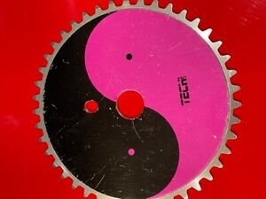 # VINTAGE OLD SCHOOL 44T BMX FREESTYLE CHAINRING ONE PC NO SPIDER NEEDED ALLOY