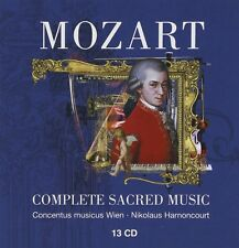 NIKOLAUS/CMW HARNONCOURT - COMPLETE SACRED MUSIC 13 CD NEU MOZART