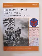 Osprey Book: Japanese Army in World War II - Battle Orders 9 - Pacific 1941-42