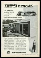 1955 Johns-Manville asbestos Flexboard modern house building sheet photo ad
