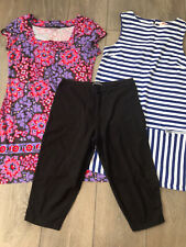 Ladies Next / Springfield Tunic Tops And Short Leggings Size 10