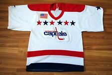 VINTAGE WASHINGTON CAPITALS JERSEY CCM NHL HOCKEY SHIRT SIZE MENS SMALL WHITE