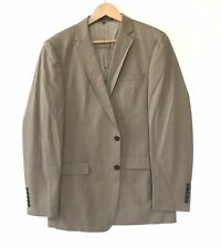 Mexx Mens Two Button Slim Fit Lined Blazer Brown Sports Coat Size 42 Regular