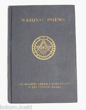 Masonic Poems - 1924 Masonic Service association of United States Washington DC