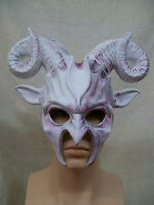 White Horned Demon Mask Goat Ram Creature Imp Devil Faun Forest God Pan Aries