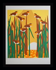 Ann T. Cooper Marsh Birds Hand Signed & Numbered Screenprint ART