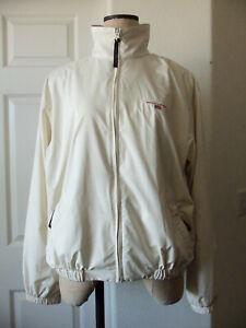 POLO SPORT Ralph Lauren Cream Polyester Water Repellent Zip Front Golf Jacket L