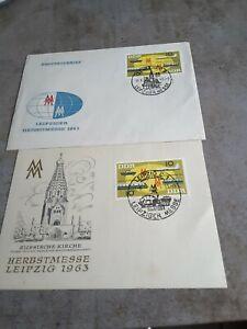Erstagskarte und Ersttagsbrief Herbstmesse Leipzig 1963