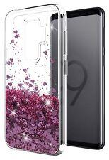 COVER Custodia Glitter Morbida Silicone STRASS per Samsung Galaxy S9 Rosa