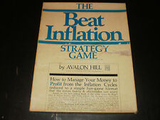 THE BEAT INFLATION STRATEGY GAME AVALON HILL 1975CONTENTS ARE IN EXCELLENT COND.