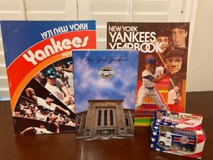 NY Yankees yearbooks, media guide and Matchbox Collectible Truck
