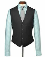 Charles Tyrwhitt adjustable fit twill business suit Waistcoat | Charc~Sz 46R~NWT