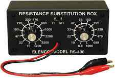 ELENCO RS-400 RESISTOR SUBSTITUTION BOX-10 ohm to 1 Meg ohm (ASSEMBLED VERSION)