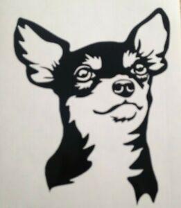 1x Chihuahua Dog Cute Decal Car Vinyl Sticker Camper Van Bumper 4.5x5in