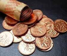 Roll of 50x 1966 Canada Small Cents (Penny) ***LUSTER, AU/UNC CONDITION***