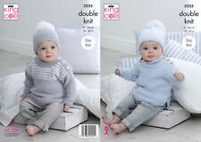 King Cole Double Knitting Pattern 5255 Sweaters and Hats