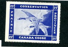 Vintage Poster Stamp PRAIRIE PROVINCES Canada Conservation CANADA GOOSE