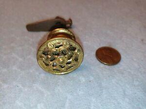 Cupboard Turn Latch Victorian Ornate Brass NOS