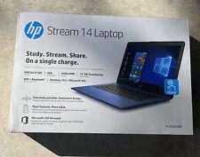 New listing Hp Stream 14 Laptop Amd A4-9120C 64Gb eMmc Touchscreen Blue Nib