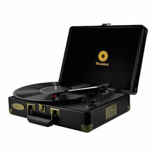 Vintage Style Turntable Record Player USB mbeat Radio Black records NEW