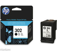 HP 302 BLACK F6U65AE INK CARTRIDGE ORIGINAL FOR OFFICEJET 3830 4650 ENVY 4520
