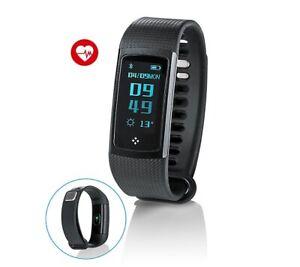 Fitnessarmband mit Puls- und Blutdruckmessung Aktivitätstracker Bluetooth Smart