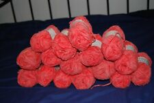 Crystal Palace Coral Cotton Chenille Yarn (16 skeins) New