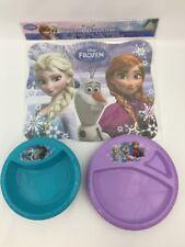Disney Frozen BPA Free Plastic Children 6 Each Bowl Plate + 12 Paper Placemats