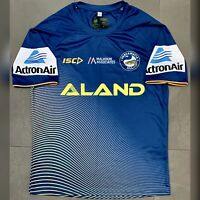 ISC Parramatta Eels 2018 NRL Player Issue Training Jersey. Size S, Exc Cond.