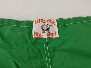 Vtg 80s Birdwell Beach Britches Board Swim Shorts Size 34/35 Green